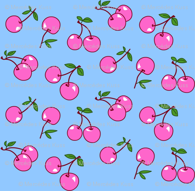 Cherries pink x blue