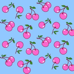 Cherries pink x blue