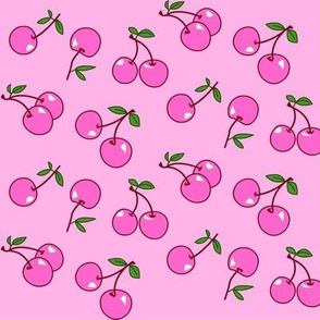 Cherries pink x pink