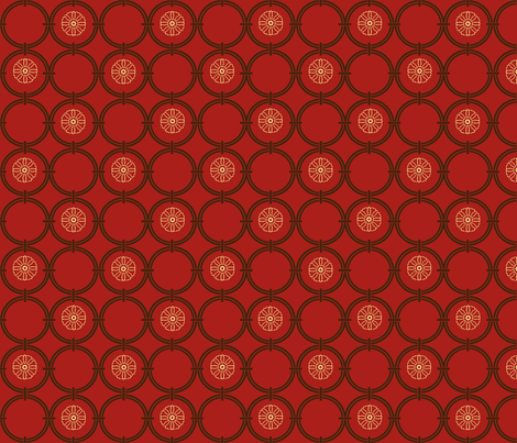 Red Bargello Window fabric by poetryqn on Spoonflower - custom fabric