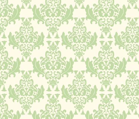 Celery Cream Damask fabric by mayabella on Spoonflower - custom fabric