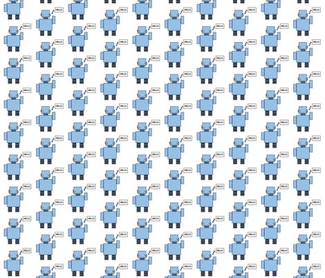 robot fabric by mayabella on Spoonflower - custom fabric