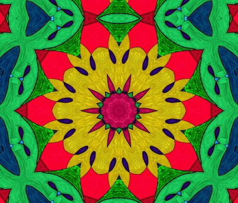 Tropicali Kaleidoscope 1 fabric by audarrt on Spoonflower - custom fabric