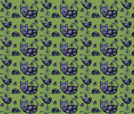 a chase of bots  fabric by vo_aka_virginiao on Spoonflower - custom fabric