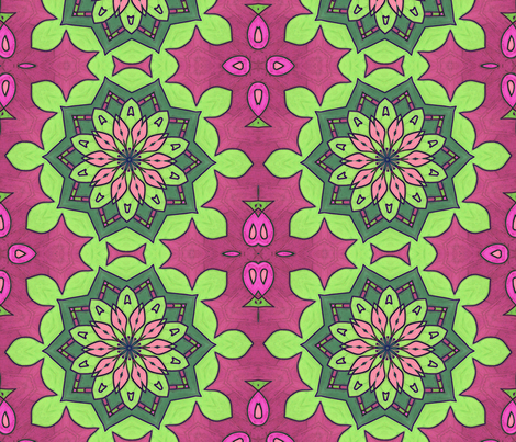 Rainbow Sherbert Kaleidoscope Colored Edges fabric by audarrt on Spoonflower - custom fabric