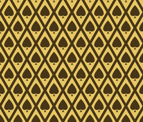 Umbria's Spades fabric by siya on Spoonflower - custom fabric