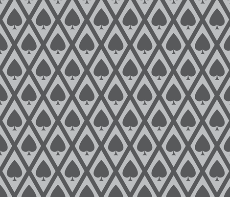Umbria's Spades in Gray fabric by siya on Spoonflower - custom fabric