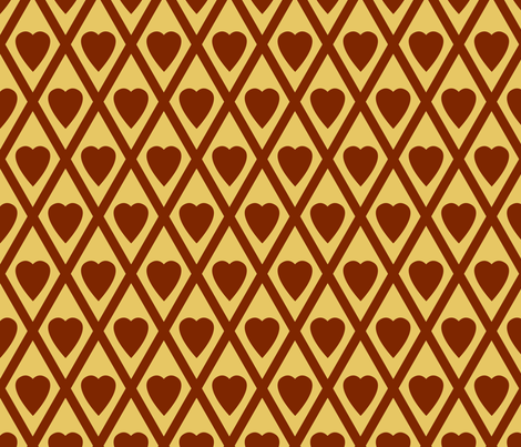 Valentina's Hearts fabric by siya on Spoonflower - custom fabric