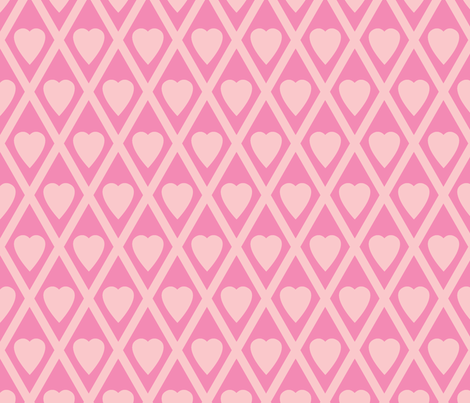 Valentina's Hearts in Pink fabric by siya on Spoonflower - custom fabric