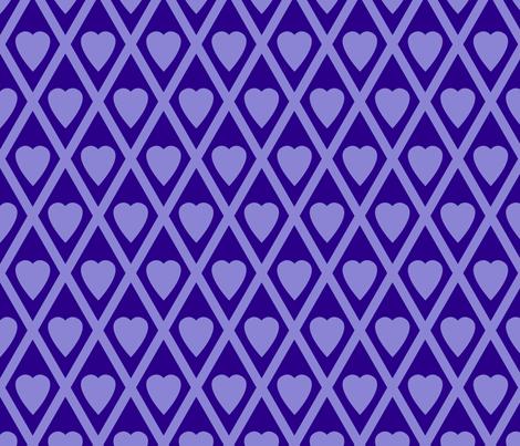 Valentina's Hearts in Purple fabric by siya on Spoonflower - custom fabric