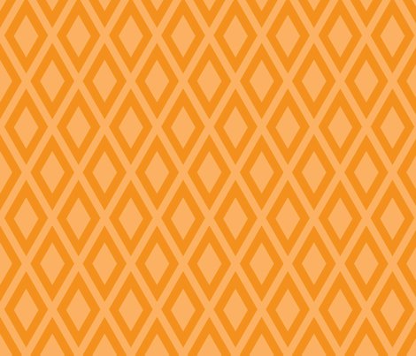 Ruby's Diamonds in Orange fabric by siya on Spoonflower - custom fabric