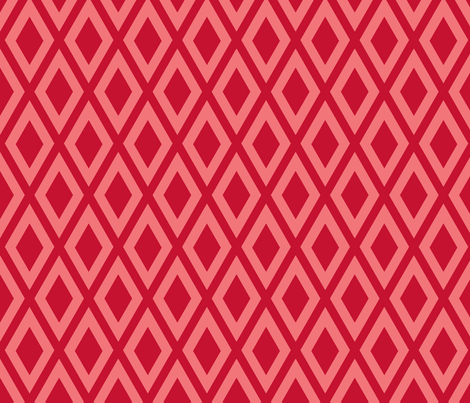 Ruby's Diamonds in Red fabric by siya on Spoonflower - custom fabric