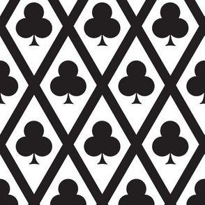 Clover's Clubs in Black and White