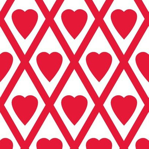 Valentina's Hearts in Red and White
