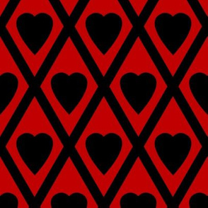 Valentina's Hearts in Black and Red