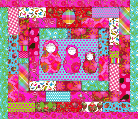 a lovely russians dolls fabric by nadja_petremand on Spoonflower - custom fabric