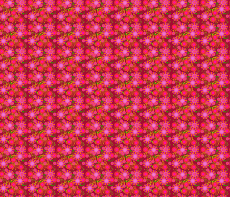 fleur de bohème rouge fabric by nadja_petremand on Spoonflower - custom fabric