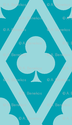 Clover's Clubs in Teal