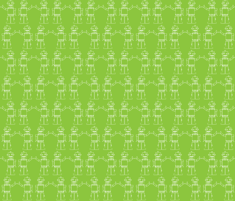 I am a Robot fabric by mondaland on Spoonflower - custom fabric