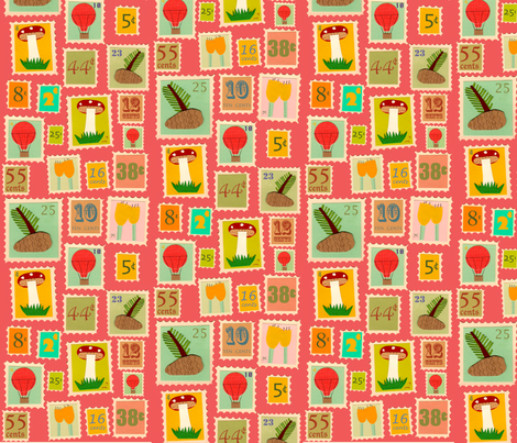 stamps fabric by heidikenney on Spoonflower - custom fabric