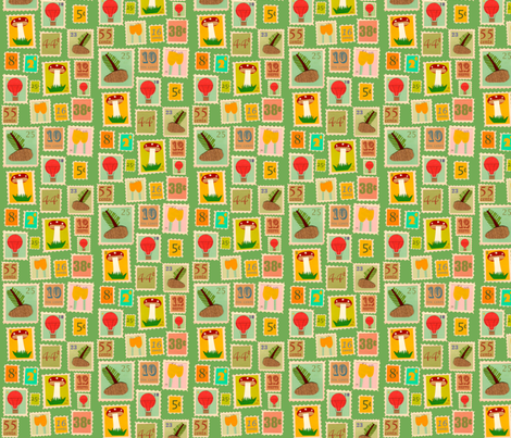 the stamp collector fabric by heidikenney on Spoonflower - custom fabric
