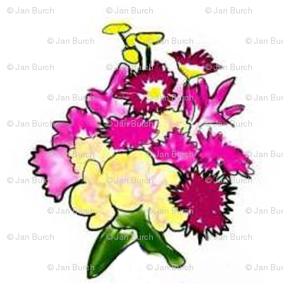 Bright Bouquet half drop