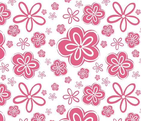 Oopsy Daisy - rose fabric by designergal on Spoonflower - custom fabric