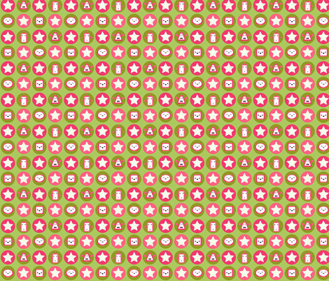 Robot Love - Pink - small fabric by fuzzyskyfabric on Spoonflower - custom fabric