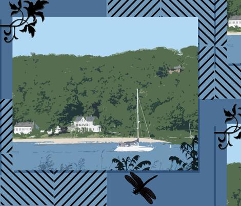 Sunday Sail 2 fabric by poetryqn on Spoonflower - custom fabric