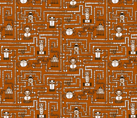 Amazing Automatons fabric by ceanirminger on Spoonflower - custom fabric