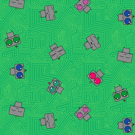 Robots fabric by leighr on Spoonflower - custom fabric