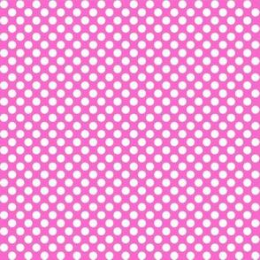 Polka Dots pink x white