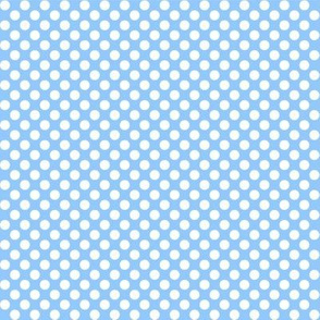 Polka Dots blue x white