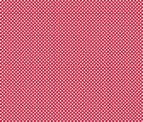 Polka Dots red x white fabric by mezzo on Spoonflower - custom fabric