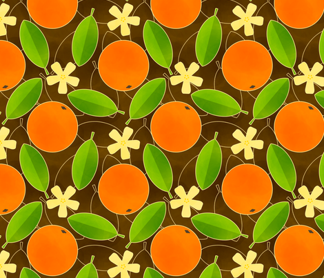 Oranges fabric by siya on Spoonflower - custom fabric