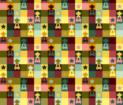 Robot Chess fabric by meredithjean on Spoonflower - custom fabric
