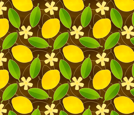 Lemons fabric by siya on Spoonflower - custom fabric