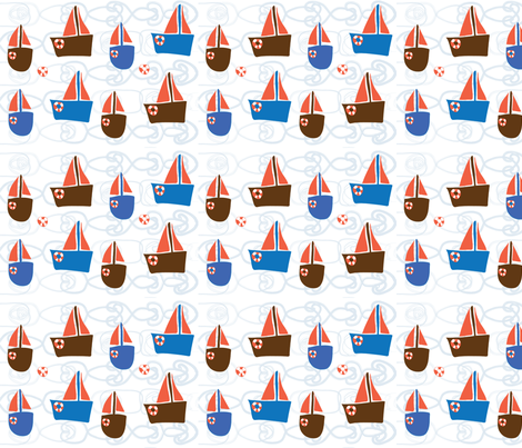 Sail away fabric by mondaland on Spoonflower - custom fabric