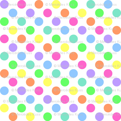 Polka Dot Rainbow Fabric Mezzo Spoonflower