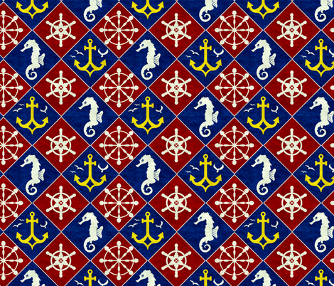 Nautical Plaid fabric by jadegordon on Spoonflower - custom fabric