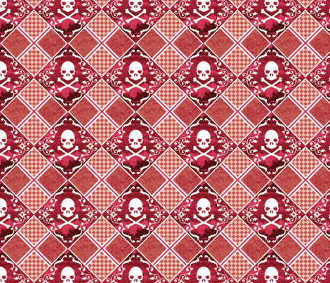 Skull Plaid 2 fabric by jadegordon on Spoonflower - custom fabric
