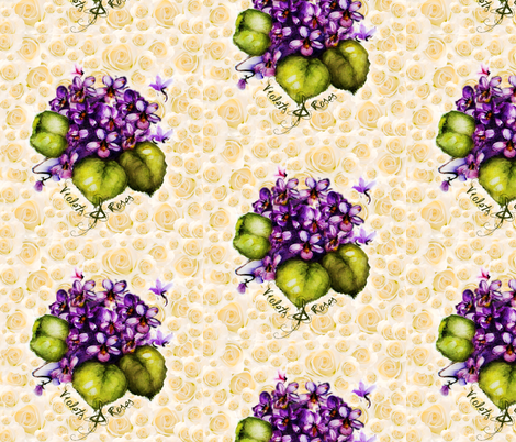 Violets & Roses fabric by paragonstudios on Spoonflower - custom fabric