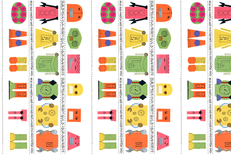 Build-A-Robot fabric by courtneytucker on Spoonflower - custom fabric