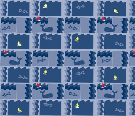 Smooth Sailing fabric by acbeilke on Spoonflower - custom fabric