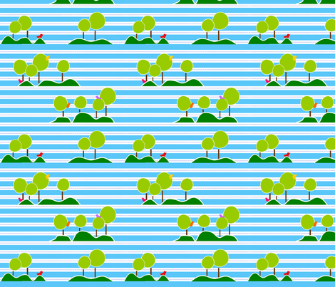 birdsntrees fabric by clearlytangled on Spoonflower - custom fabric
