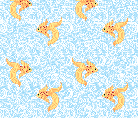 Weird Fishes (Light) fabric by leighr on Spoonflower - custom fabric