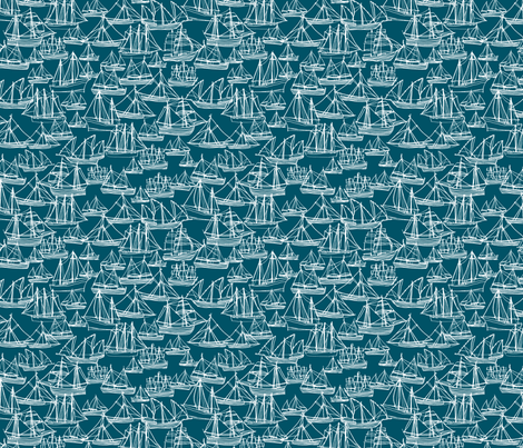 Sailing Ships - Marine fabric by laurenhunt on Spoonflower - custom fabric
