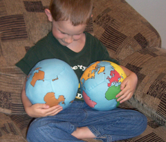 Fat Quarter Land and Water Globe