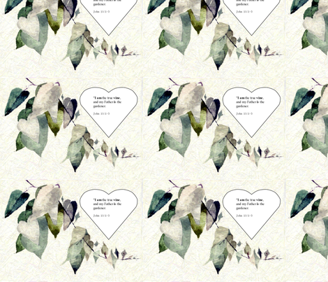 John 15:1 fabric by karenharveycox on Spoonflower - custom fabric