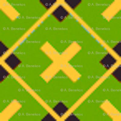 Tartan Cross Green